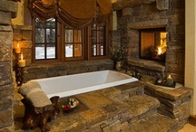 Stone in the bathroom / Stonework can add elegance to any room in your home, even the bath.