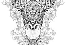Adult Coloring Pet Pages / Coloring pages for adults--of pets and other fun animals.