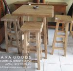 rustic bar stool - rustic set dining table - teak rustic furniture jepara