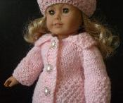 """Doll clothes patterns for 18"""" dolls"""