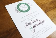 Rehearsal Dinner Invitations / Rehearsal dinner invitations by stockandstamp.com. Letterpress and foil stamping available!