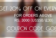 GOSF 2014 Deals | Use Coupon Code: GOSF14 / GOSF 2014 - Get 20% off on order above ($50 / £30 / Rs. 3000) between 10-12 Dec 2014. Free Shipping on order above $500. Use Coupon Code: GOSF14