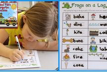 CVCe Words / Lessons, activities, and centers for teaching and practicing CVCe spelling patterns. CVCe words have a consonant-vowel-consonant-silent e pattern. Ideas are intended for prek, kindergarten, first grade, and second grade classrooms.