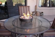 Tabletop fire pits for patios / Check out the custom tabletop firepit tables. Great for small back patios and living areas. Great for travel too! AZ Backyard Custom - http://azbackyardcustom.com/