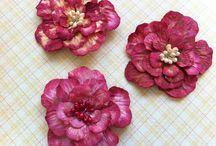 My Handmade Flowers / love making flowers!so so relaxing :)