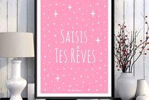 * Decorative posters * Mon Rose Pompon !