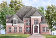 Colonial Style House Plans & Designs / Colonial style houses are authentic to or derive from the Colonial period in America which was influenced by architectural styles from England and other parts of Europe. Browse the rest of our large collection of Colonial House Plans here: http://www.thehousedesigners.com/colonial-house-plans/