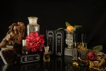 Vintage Product Photos- Circa 2016 and earlier / Pics of some of our signature hand-blended, hand-packaged perfumes from Austin TX!