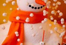 Snowman soup party
