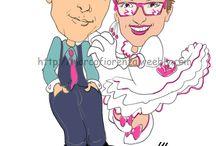 Matrimoni, caricature ed oltre / coppie sposi