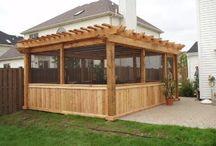 Enclose outdoor space