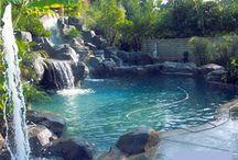Backyard Paradise /  Beautiful pools, outdoor decor / by Marisa Doan