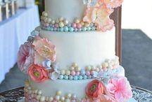 torta fiori colorati