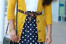 mustard & navy colour combo