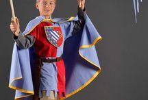 Les étendards pour les valeureux chevaliers