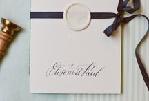 Wax Seals for Weddings / Wax seals and weddings are a match made in stationery heaven!