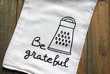 Flour Sack Kitchen  Hand & Dish Towel With Sayings