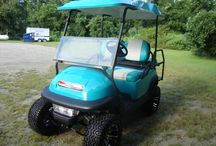 2008 Precendent Custom Golf Cart / Tropical Turquoise and White, All Sports lift kit, custom matching seat covers, rear flip set kit, sun roof top,