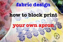 Block print your own apron / Have a go at block printing your own apron! Choose the printing blocks for you  http://colouricious.com/block-printing-shop/block-printing-wooden-printing-blocks-stamps/