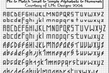 Broderie alphabets