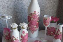 Декупаж, бутылки, вазы 3