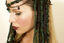 Hairpiece inspiration / Hairpieces for tribal fusion