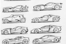 Rysunek/ szkice samochody