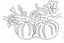 szablony jesień