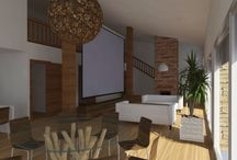 Residència-estudi per un artista / Projecte realizat durant el grau en disseny d'interiors.