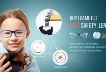 Free Safety Lenses Promotion / Any eyeglasses frame is over $30.00 and free safety lenses is offering.  Come to finestglasses.com for this great deals.