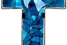 krzyże mozaika