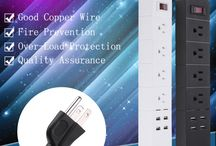 C138 4-OUTLET SURGE PROTECTOR PORTABLE POWER STRIP WITH 4 PORT SMART USB CHARGER, 6FT EXTENSION CORD