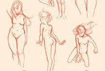 esboços femininos