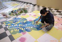 城下町高田花ロード / 1998年に始まった、城下町高田の碁盤状の道筋を花や花をモチーフとした作品で飾るイベント。2013年度の作品数は160点。