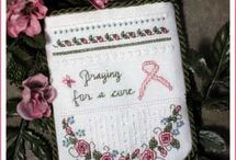 Breast Cancer & Other Causes in Cross Stitch/Embroidery Freebies