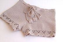 calções em crochet