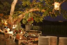 barrel wedding buffet