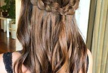 penteado de trança bunad