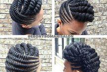 flat twist braids