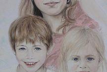 my painting / von mir handgemalte Gemälde.