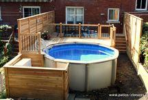 cours exterieure, piscine