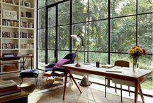 Home Office Spaces/Libraries / by Rachel Laney