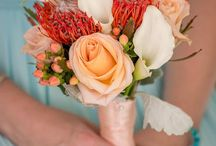 Beach Wedding Flowers / Outdoor Beautiful Flowers and Centerpieces At Key Largo Lighthouse Beach Wedding Venue in the Florida Keys
