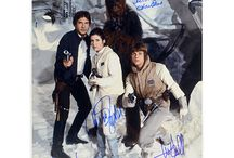 Star Wars / Featured are items included in our Star Wars Premiere Collection, autographed by the film's stars - Harrison Ford, Mark Hamill, Carrie Fisher, David Prowse, David Barclay, Peter Mayhew, Kenny Baker, Jeremy Bulloch, Anthony Daniels, Billy Dee Williams
