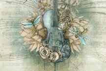 decorated violins