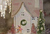 Christmas craft box houses