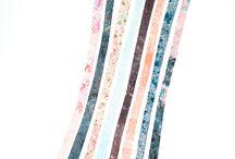 Happé-Cravates / Collection de cravates en soie imprimées à la main.