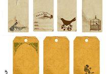 Etiquetas, postales e imágenes vintage