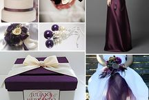 Deep purple and ivory