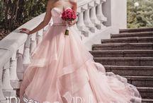 Свадебные платья цвета пудры / Свадебные платья цвета пудры